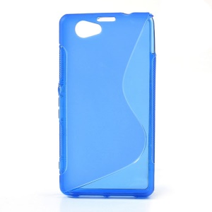 Blue S-Line Wave Gel Case for Sony Xperia Z1 Mini Compact D5503