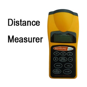 Yellow Ultrasonic Distance Measurer Laser Point