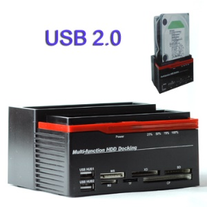 All in 1 Multi-function SATA & IDE HDD Docking with Card Reader