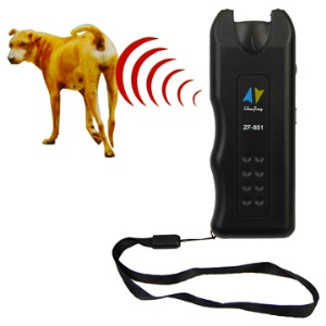 Safe Ultrasonic Dog Repeller Chaser Trainer Canine Proteção com corda ZF-851