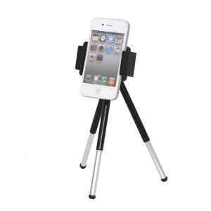 Retractable Cell Phone Stand Tripod Holder for iPhone Samsung HTC etc