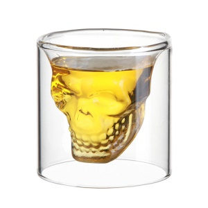 Innovative Crystal Shot Human Skeleton Skull Vodka Cup