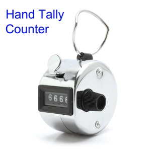 Portable 4 Digit Number Display Clicker Metal Hand Tally Counter for Golf Sport