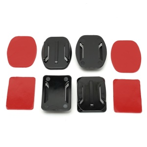 2 Curved Surface + 2 Flat Surface Adapters + 4 Adhesive Mount Stickers for GoPro Hero 1 2 3