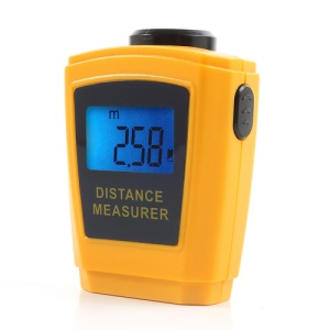 Portable LCD Ultrasonic Distance Meter Measurer with Laser Pointer