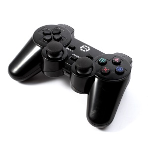 JITE CX-505 2.4G Wireless USB Dual Shock Controller Game Pad Joystick for PC Sony PS2 PS3 - Black