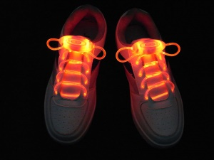 Red Fashion Glowing LED Light Up Shoelaces Third Gen Olive Shaped