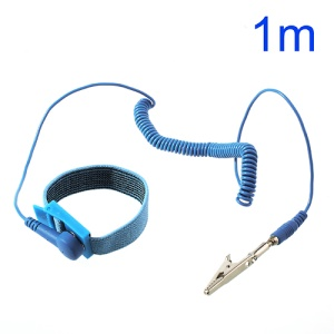 Anti Static ESD Wrist Strap Discharge Band Grounding Adjustable Elastic Bracelet