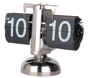 Balance Shaped Auto Flip Clock Desktop Decorative Clock