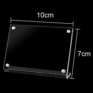5Pcs/Pack Magnetic Closure Clear Acrylic Holder for Card Sign Menu Photo Display, Size: 10 x 7cm