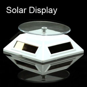 Solar Powered Rotate Display Stand + Turnable Plate