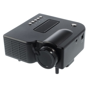 Mini Projecteur Home Multimédia LED Avec HDMI / Dakota Du Sud / USB / UN V / Port VGA - Noir