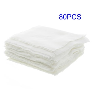 80Pcs/Lot Precision Instrument Wiping LCD Refurbishing Non Dust Cloth, Size: 9.5 x 9.5cm