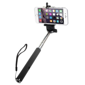 Z07-1 Extendable Handheld Monopod w/ Detachable Phone Holder for Mobile Phones Cameras - Black