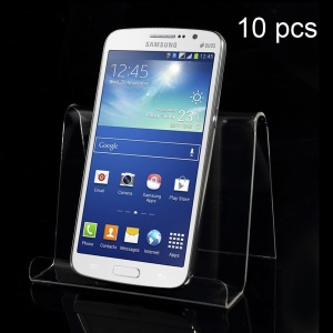 10PCS/Lot Single Tier Acrylic Display Stand for Mobile Phone & Digital Devices Etc, Size: 12 x 9cm