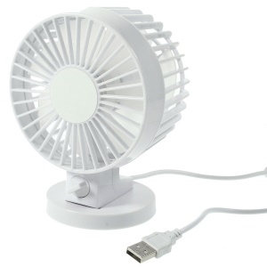 Mini ventilador de doble hoja USB - Blanco