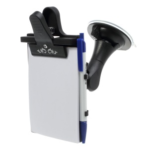 Universal 180 Degree Rotating Car Window Suction Cup Mount Card Tablet Message Notes Writing Pad Holder