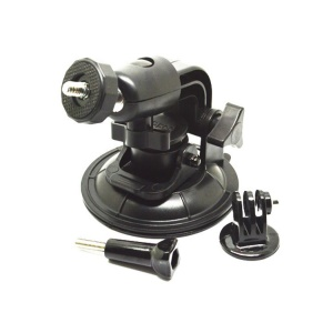 9cm Diameter Suction Cup Mount + Tripod Adapter + Thumb Screw for GoPro Hero 3+ 3 2 1