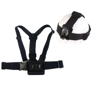 Elastic Chest Strap with Head Band for GoPro Hero3+/3/2/1