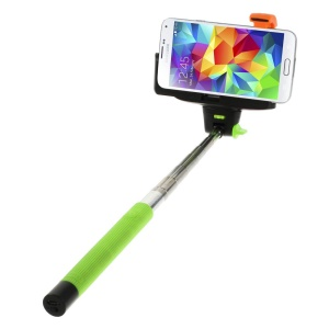 Green Wireless Handheld Extendable Self-Timer Monopod for Android 3.0 or IOS 4.0 above Smartphones (KJstar Z07-5 2nd Gen)