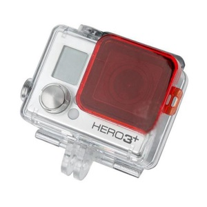 Red PC Under Sea Diving Protective Filter Cover for Gopro Hero 3+