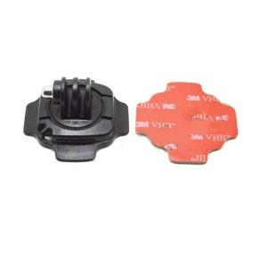 360 Degrees Rotation Helmet Mount with Sticker for Gopro Hero 3+ / 3 / 2 / 1