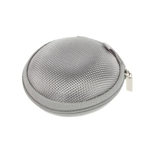 Portable Earphone Headphone Earbud Carrying Storage Bag Pouch - Grey