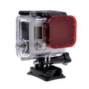 Red Snap-on Underwater Color Correction Dive Housing Filter for Gopro Hero 3