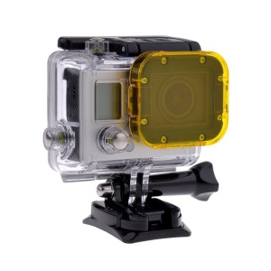 Yellow Snap-on Underwater Color Correction Dive Housing Filter for Gopro Hero 3