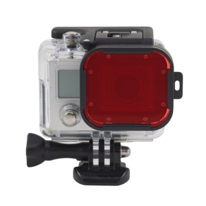 Red Snap-on Dive Housing Filter Water Color Correction for Gopro Hero 3+