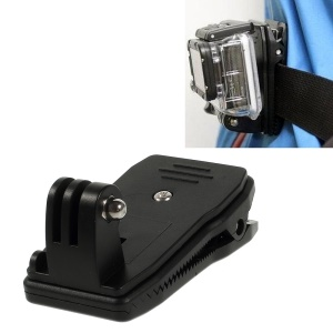 360 Degree Rotary Backpack Strap Quick Release Clamp Mount for Gopro 3+ 3 2