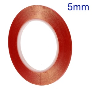 5mm x 33m Heat Resistant Double-sided Clear Adhesive Tape