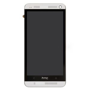 White Front Housing LCD Assembly with Touch Screen Digitizer for HTC One M7 801e OEM