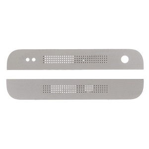 Front Camera Top Cover and Bottom Cover for HTC One Mini M4 (OEM) - White