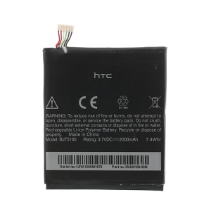 2000mAh BJ75100 Internal Battery Part for HTC EVO 4G LTE / One XC (OEM, Not Brand New)