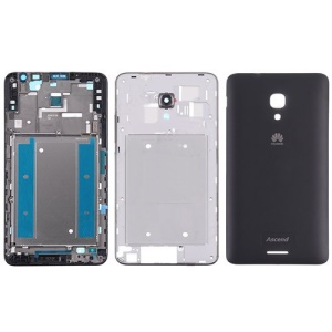 OEM Full Housing Faceplate Cover Repair Part for Huawei Ascend Mate2 4G - Black