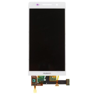 White OEM LCD Screen Assembly with Touch Screen Digitizer for Huawei Ascend P6