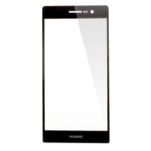 Black Front Outer Screen Glass Lens Replace Part for Huawei Ascend P6