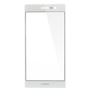 White Front Glass Screen Lens Replacement Part for Huawei Ascend P6