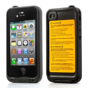 Durable Redpepper Waterproof Dustproof Case Cover for iPhone 4 4S - Black