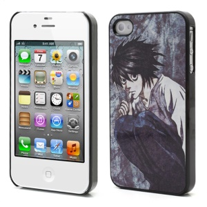 Death Note Anime L Lawliet Metal Hard Cover Case for iPhone 4 4S