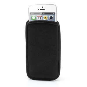Black Soft Cloth Sleeve Pouch Bag Cover para iPhone SE 5s 5 5c 4 4S iPod Touch 5, Tamanho: 12.5 x 6.5cm