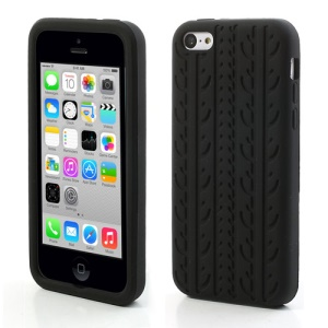 Black Tire Tread Silicone Case para iPhone 5c