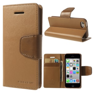 Brown Mercury Goospery Sonata Stand Leather Magnetic Cover for iPhone 5c