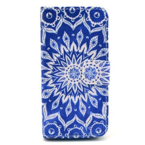 For iPhone 5c Tribal Flower Wallet Stand PU Leather Case Accessory