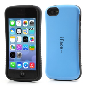 IFACE MALL for iPhone 5C PC & TPU Dual Layer Hybrid Cover - Baby Blue