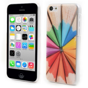 Embossed Colorful Pencil Hard Plastic Case for iPhone 5c