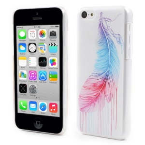 Vivid Feather for iPhone 5c Embossed PC Hard Skin Case