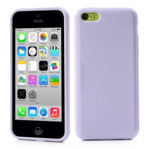 Purple Glossy Candy Jelly TPU Case for iPhone 5C