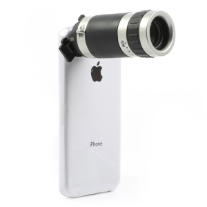 8X Zoom Telescope Camera Lens with Transparent Hard Case for iPhone 5c